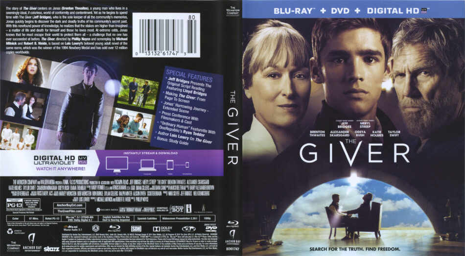 the giver blu-ray dvd cover
