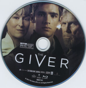 the giver blu-ray dvd label