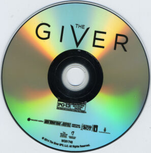 the giver dvd label