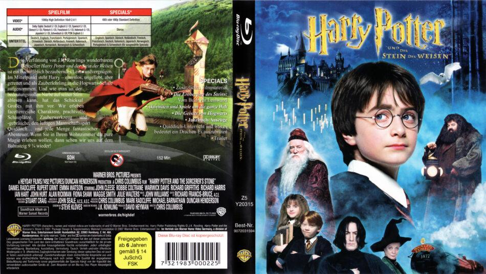 harry potter und der stein der weisen bluray dvd cover