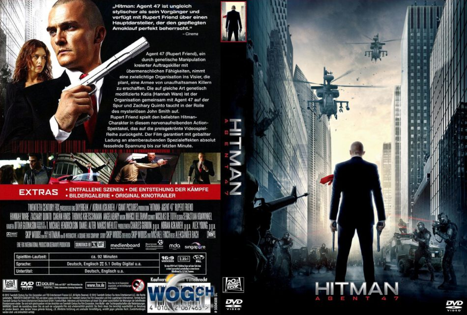 Hitman Agent 47 Dvd Cover 2015 R2 German