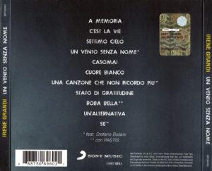 Irene Grandi - Un Vento Senza Nome - Back