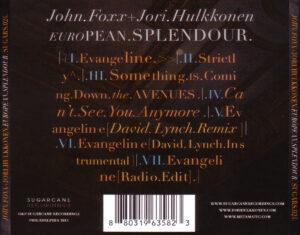 John Foxx & Jori Hulkkonen - European Splendour - Back