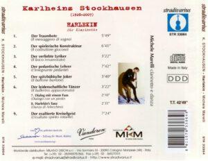 Karlheinz Stockhausen - Harlekin für Klarinette - Back