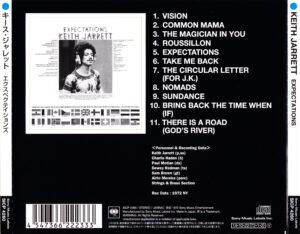 Keith Jarrett - Expectations (Japan) - Back