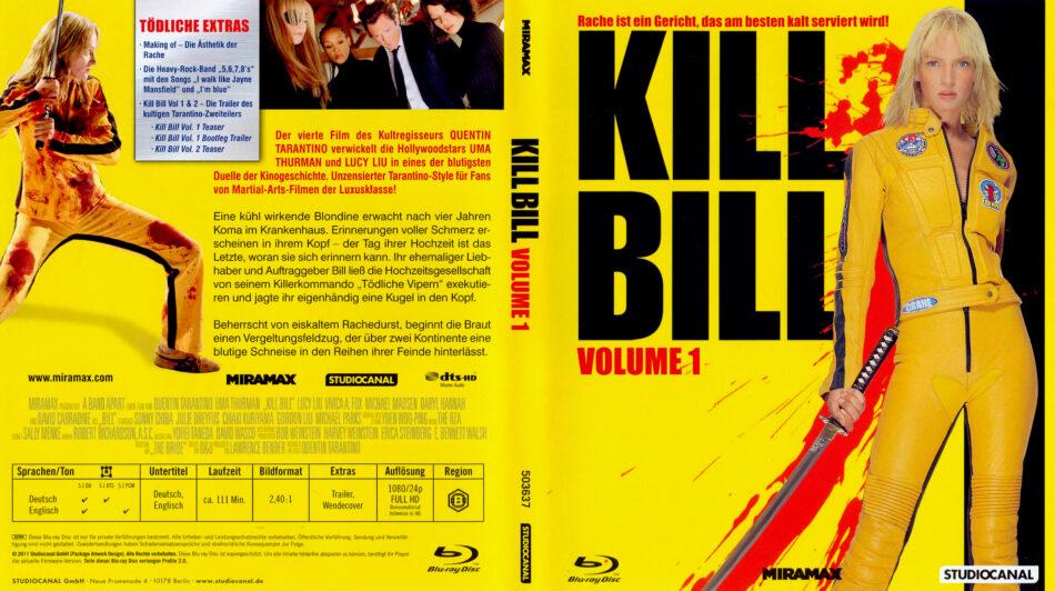 Kill Bill Volume 1 Blu Ray Dvd Covers 2003 German