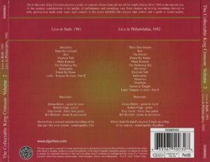 King Crimson - The Collectable King Crimson Volume 2 (Back)