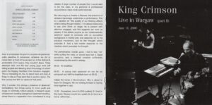 King Crimson - The Collectable King Crimson Volume 4 (Booklet 04)