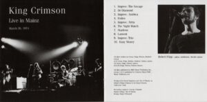 King Crimson Volume 1 (Booklet 02)
