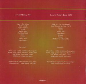 King Crimson Volume 1 (Inside)