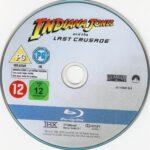 Indiana Jones und der letzte Kreuzzug (1989) R2 Blu-Ray DVD Label German