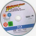 Indiana Jones und das Königreich des Kristallschädels (2008) R2 Blu-Ray DVD Label German