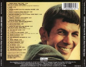 Leonard Nimoy - Mr. Spock´s Music From Outer Space - Back