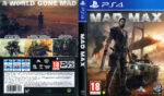 Mad Max (2015) Pal PS4 DVD Cover