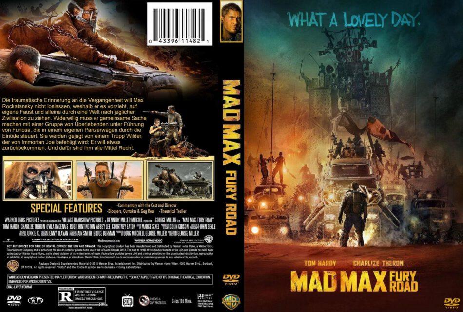 Mad Max Fury Road Dvd Cover 2015 German Custom