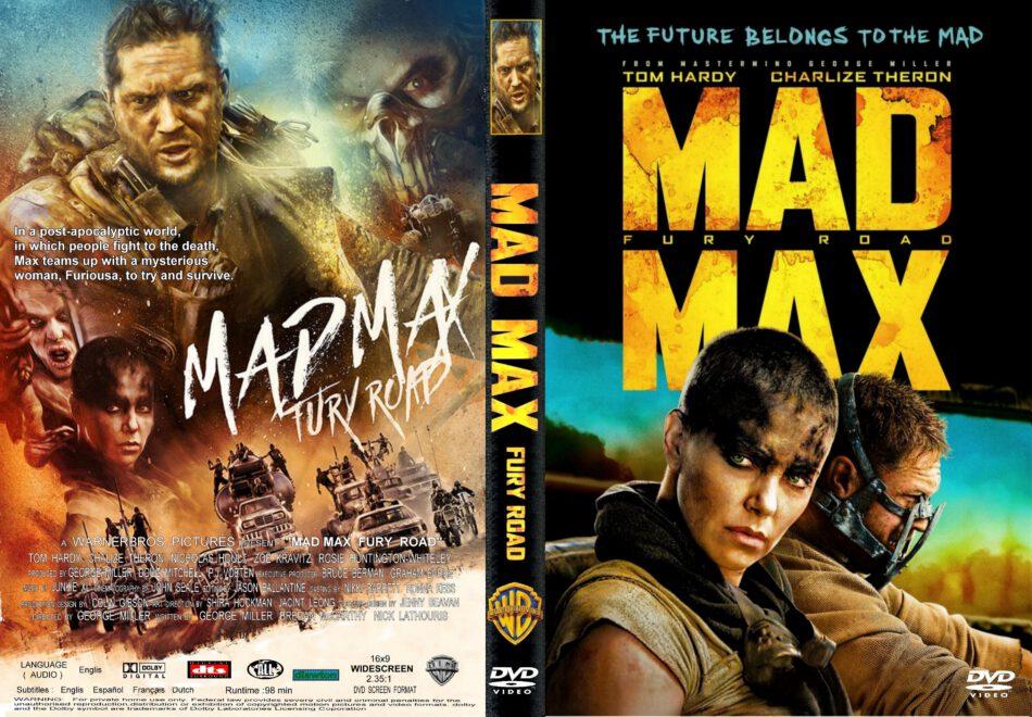 Mad Max Fury Road Dvd Cover Label 2015 R1 Custom Art