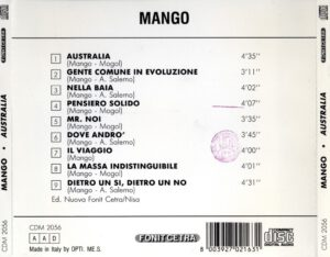 Mango - Australia - Back
