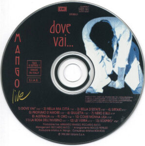 Mango - Dove Vai... (Live) - CD