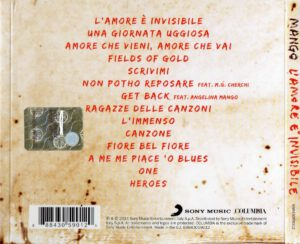 Mango - L'amore è invisibile - Back