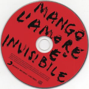 Mango - L'amore è invisibile - CD
