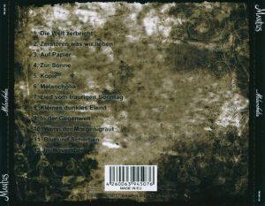 Mantus - Melancholia - Back