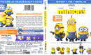 Minions (2015) Blu-Ray DVD Cover & Label