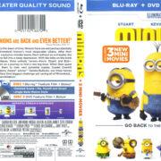 Minions (2015) Blu-Ray DVD Cover & Label