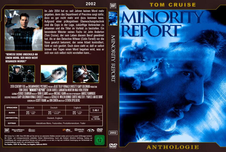 Minority Report Dvd Cover 2002 German Custom