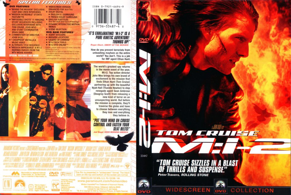 Mission Impossible 2 Dvd Cover 2000 R1