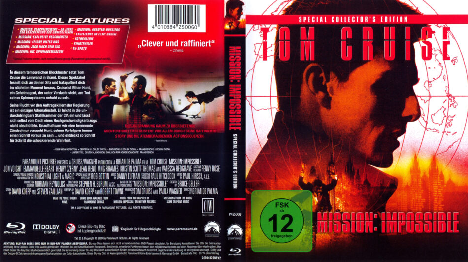 Mission Impossible Blu Ray Dvd Cover 1996 German