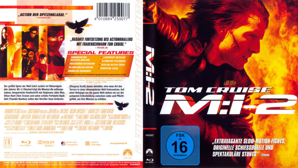 Mission Impossible 2 Blu Ray Dvd Cover 2000 German