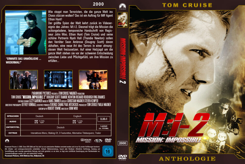 Mission Impossible 2 Dvd Cover 2000 German Custom