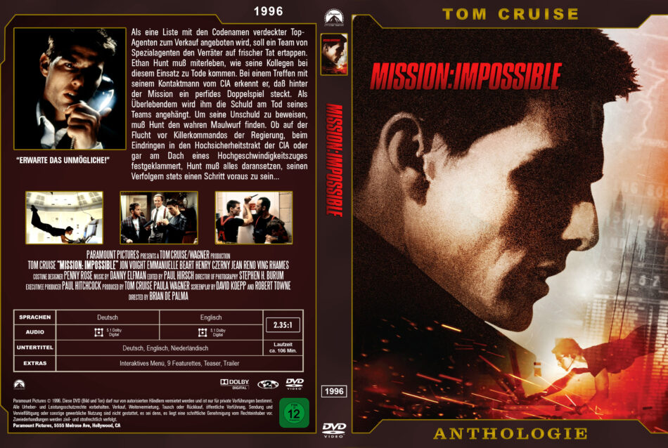 Mission Impossible Dvd Cover 1996 German Custom