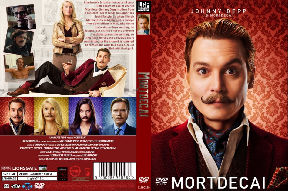 mortdecai dvd cover