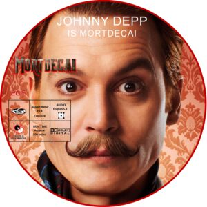 mortdecai dvd label