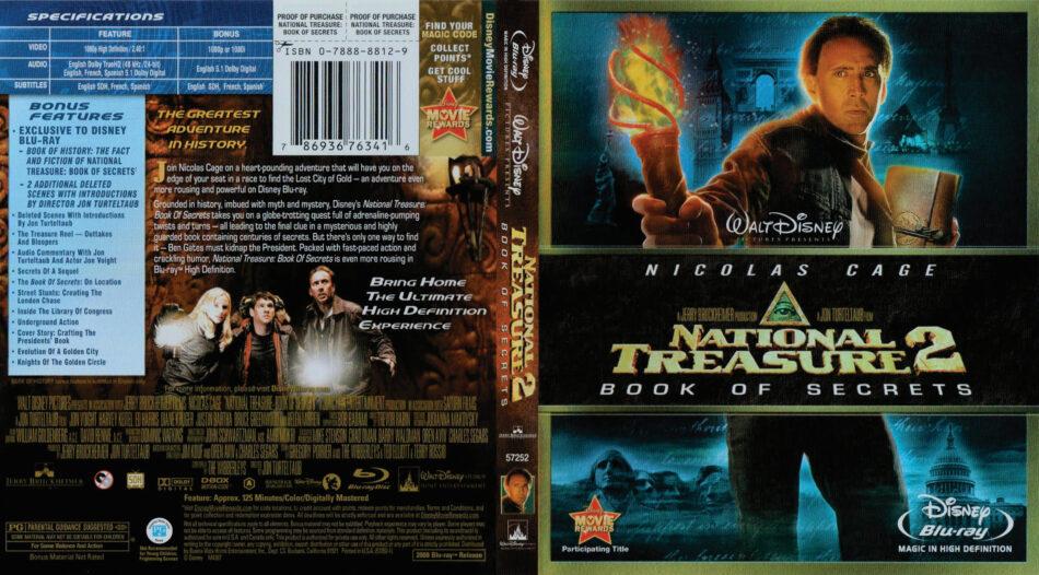 National Treasure 2 Book Of Secrets Blu Ray Dvd Cover 2007