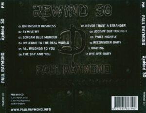Paul Raymond - Rewind 50 - Back