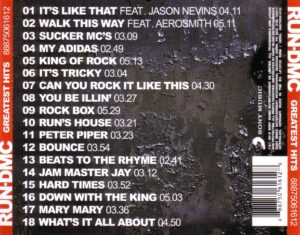 Run DMC - Greatest Hits - Back