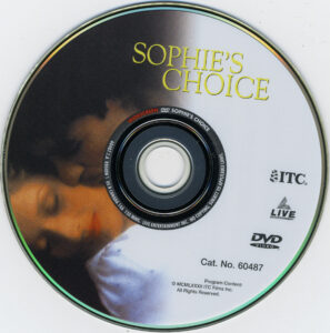 Sophie's Choice dvd label