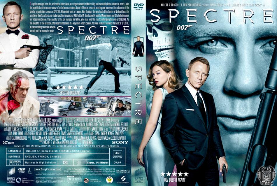Spectre Dvd Cover 2015 R1 Custom Art
