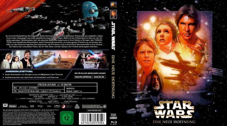 Star Wars Eine Neue Hoffnung Blu Ray Dvd Cover 1977 R2 German