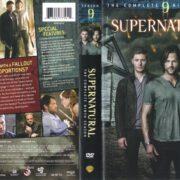 Supernatural: Season 9 (2014) R1 DVD Cover & Label