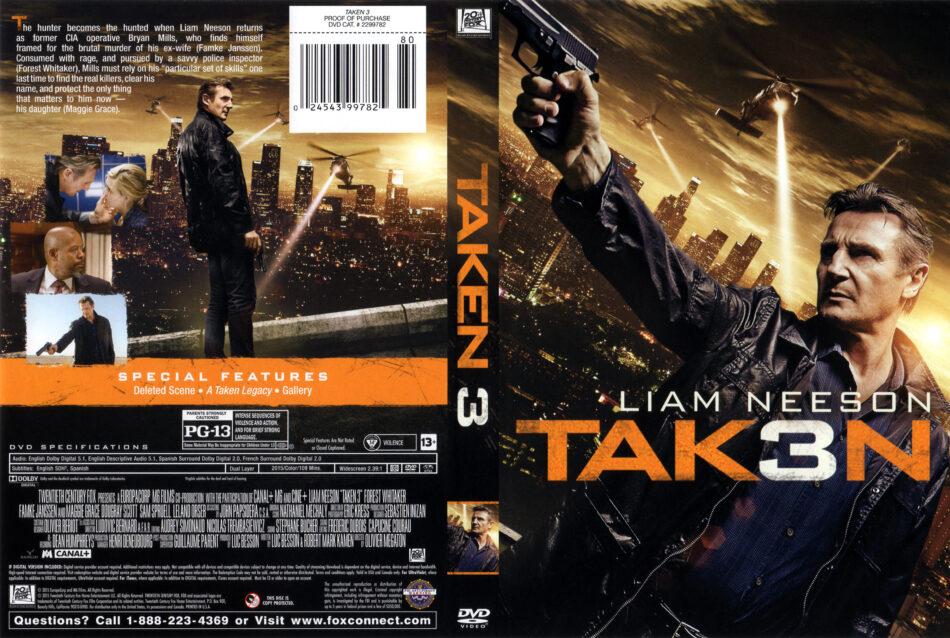 Taken 3 Dvd Cover Label 2015 R1