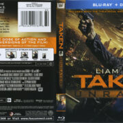 Taken 3 (2015) Blu-Ray DVD Cover & Label