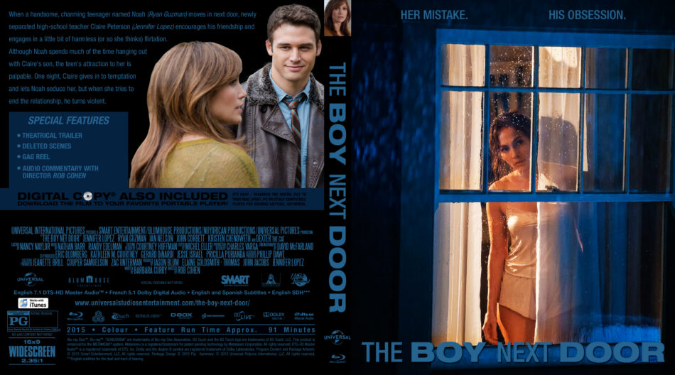 The Boy Next Door blu-ray dvd cover