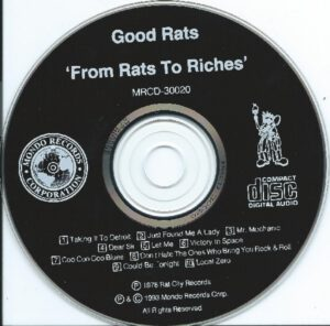 The Good Rats - From Rats To Riches - CD