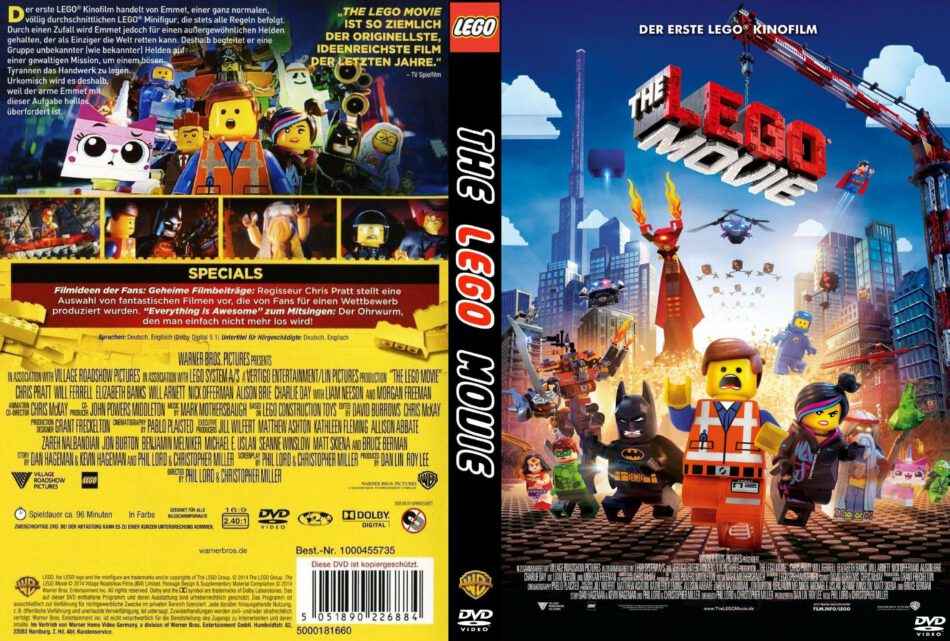 The Lego Movie Dvd Cover 2014 R2 German