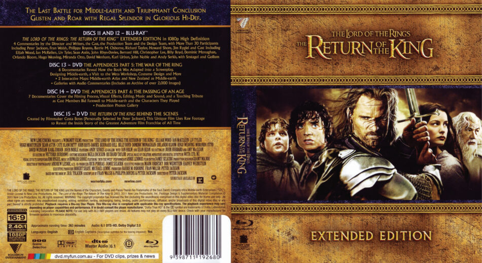 The Lord of the Rings: The Return of the King Blu-Ray DVD ...
