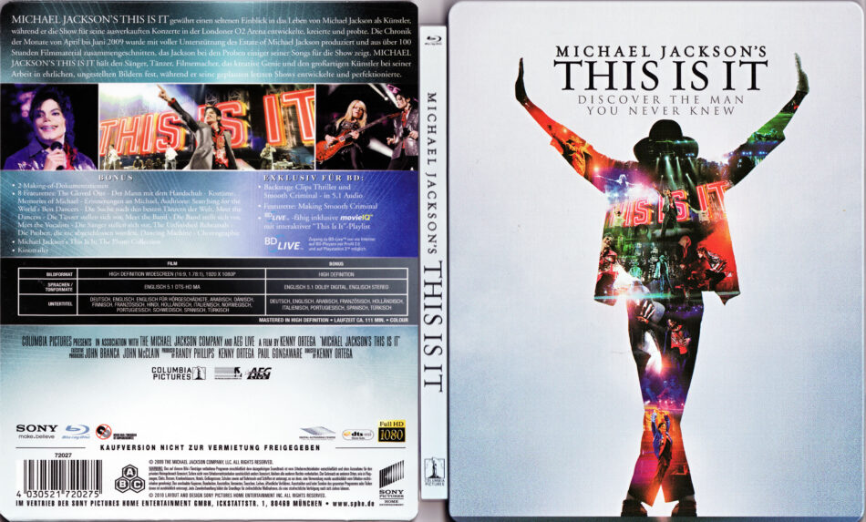 Michael Jackson This Is It Blu Ray Cover 2009 German