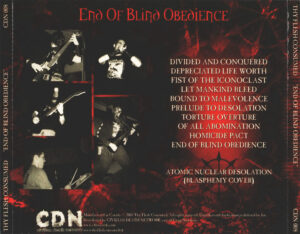 Thy Flesh Consumed - End Of Blind Obedience - Back